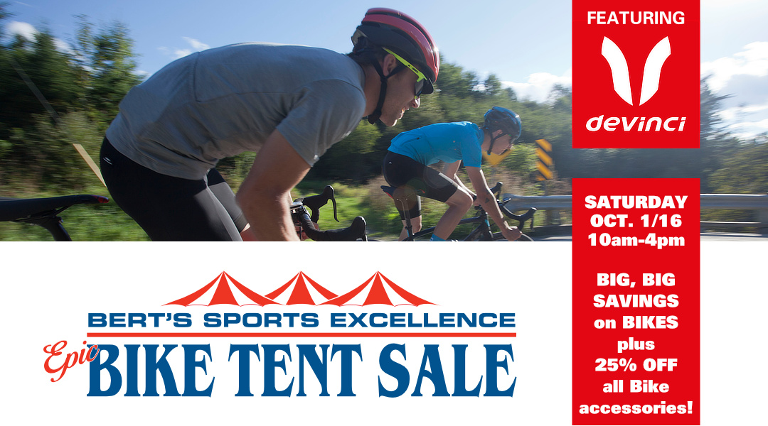 Bert's Epic Bike Text Sale, Saturday, October 1, 2016