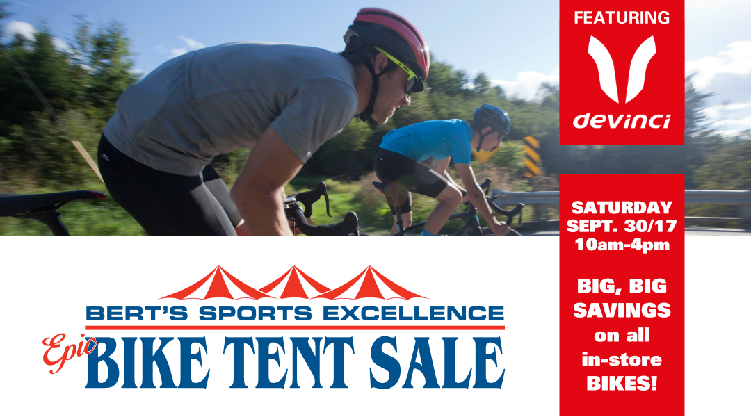 Bert's Epic Bike Tent Sale