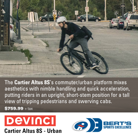 Devinci Cartier Altus 8S Commuter / Urban bike available at Bert's Sports