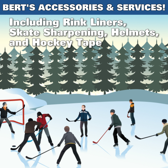 Accessories and Services available at Bert's Sports